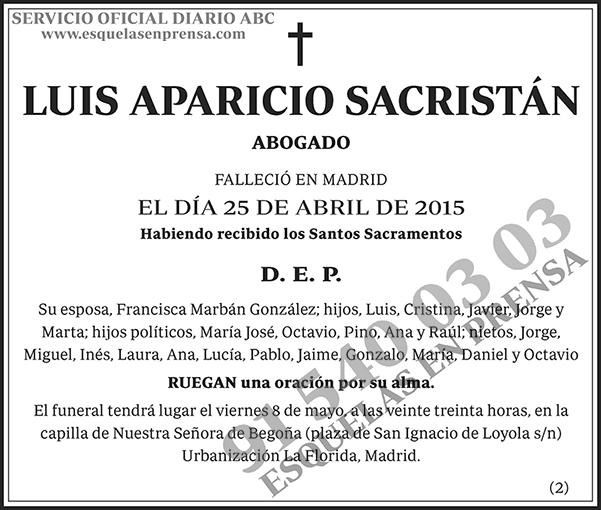 Luis Aparicio Sacristán